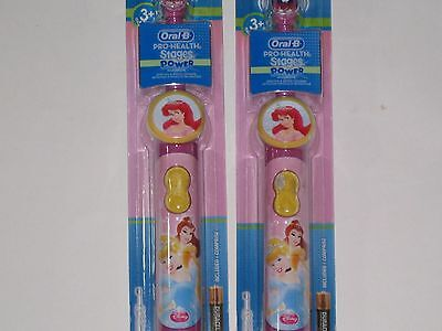 2) Oral-B Disney Princess Battery Toothbrush Pro-Health Stages Power Cinderella