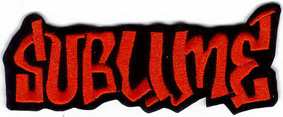 Sublime Logo Red Embroidered Patch !