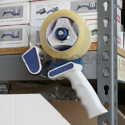 "Blue 2"" Portable Tape Gun Dispenser Packing Packaging Sealing Cutter"