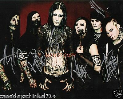 """Motionless In White heavy metal band Reprint Signed 8x10"""" Photo #2 RP"""