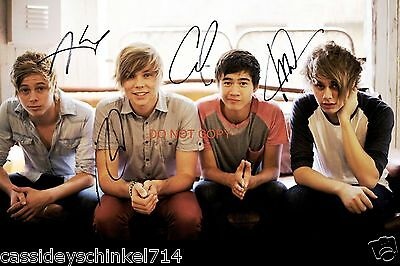"5 Seconds of Summer band Reprint Signed 12x18"" Poster Photo #1 RP ALL 4 Members"