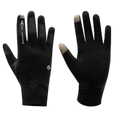 RONHILL SIROCCO RUNNING GLOVES Windproof Mobile SmartTip Black (100041)