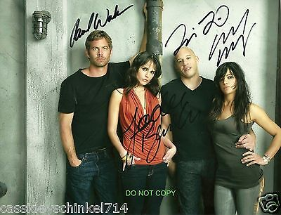 """The Fast and The Furious Cast 8x10"""" reprint signed photo RP Paul Walker"""