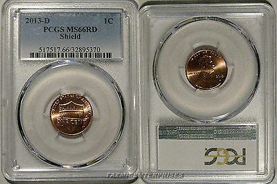 2013 D Lincoln SHIELD Cent 1c PCGS MS66RD