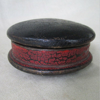 Magnificent Antique Leather Box Feels Like Wood Hardened Yak Skin Tibet