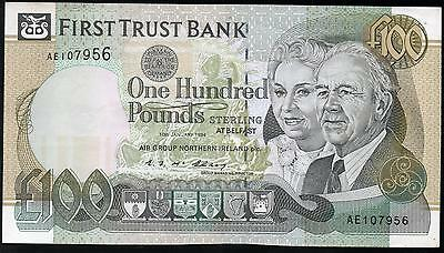 First Trust Bank Belfast £100 hundred pound banknotes 1994 1996 real currency