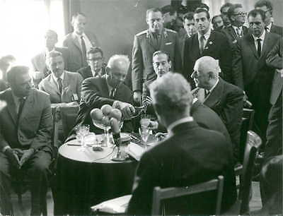 Vintage photo of Charles de Gaulle enjoying drinking with friends. -