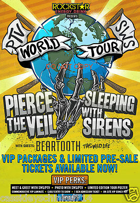 """Pierce the Veil & Sleeping with Sirens Reprint 12x18"""" Concert Poster Photo #2 RP"""