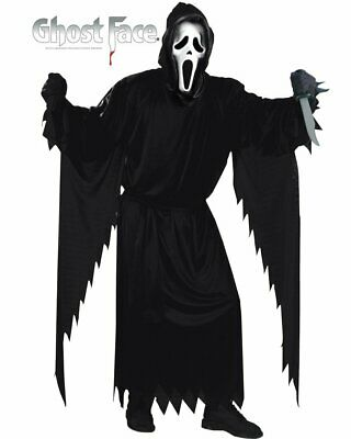 C682 Mens Licensed Ghost Face Scream Ghostface Scary Fancy Costume Robe + Mask