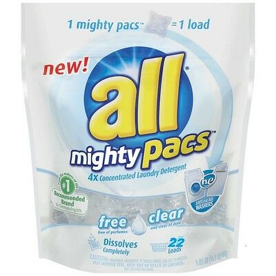 ALL MIGHTY PACS 22 load Free Clear HE stainlifter Sensitive MightyPacs pack  pods