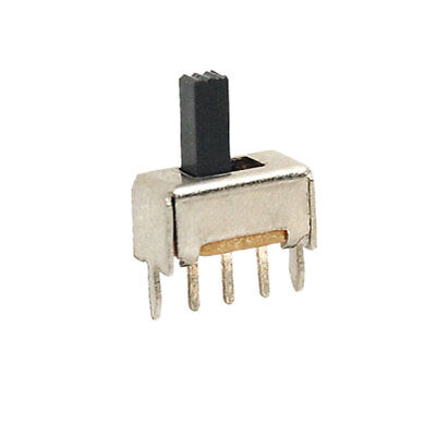 10pcs On/On 2 Position SPDT Panel Miniature Vertical Slide Switch 3 Pin SS12D01