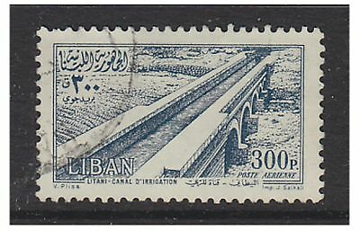 Lebanon - 1954, 300p Canal stamp - Used - SG 500
