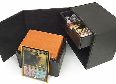 Deck Commander Locker LT Dark Brown Box  Huge 100 Sleeved MTG Card Capacity