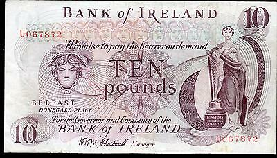 SCARCE bank of ireland ltd belfast £10 ten pound banknotes 1972 1984 EF VF