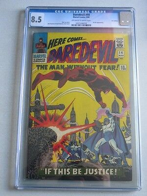 Daredevil #14 1966 CGC 8.5 OW/W Pages UK Price Variant