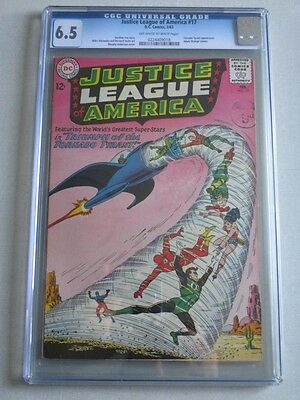 Justice League of America #17 1963 CGC 6.5 OW/W Pages Adam Strange Cameo
