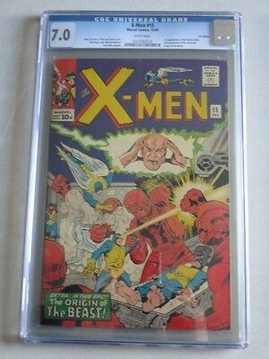 X-Men #15 1965 CGC 7.0 White Pages 1st Master Mold