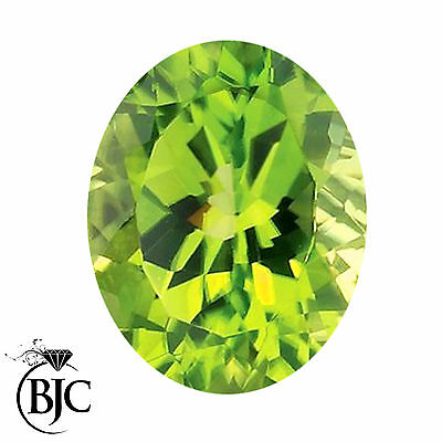 BJC® Loose Oval Cut Natural Peridot Stone Green Deep Beautiful & Great Value