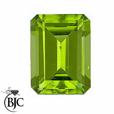 BJC® Loose Emerald Cut Natural Peridot Stone Green Deep Beautiful & Great Value