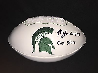 Madre London Signed & Inscribed Michigan State Spartans Football