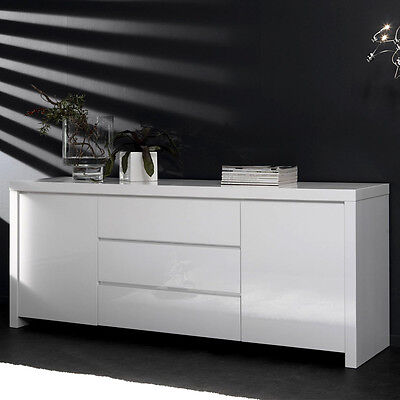 now by h lsta no 14 sideboard anrichte lack hochglanz weiss art 3942 neu eur. Black Bedroom Furniture Sets. Home Design Ideas