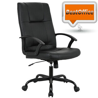 Black PU Leather Ergonomic High Back Executive Best Desk Task Office Chair T41