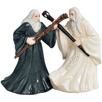 The Lord of The Rings Gandalf and Saruman Salt & Pepper Shakers #25322