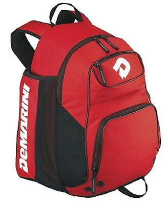 DeMarini WTD9103 Red Aftermath Bat Pack Backpack Bag Baseball / Softball New!