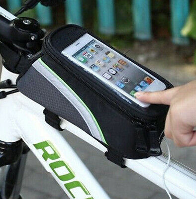 Bicycle Cycling Bike Frame Front Tube Waterproof Cellphone Mobile Phone Bag