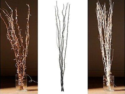 Decorative Natural Branch Twigs Interwoven With 80 Warm White Fairy Lights 120Cm