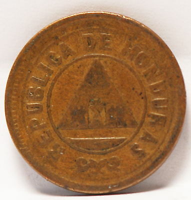 Honduras, 1913 2 Centavos, Very Fine, weak strike, SCARCE