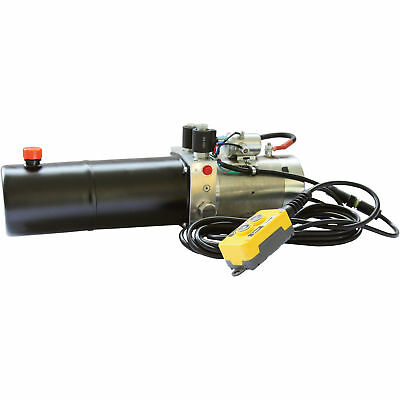 NorTrac 12 Volt DC Hydraulic Power Unit- Double-Acting Cylinder