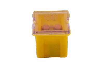 Connect 30487 J Type Auto Low Profile Fuse Yellow 60-Amp Pk 10