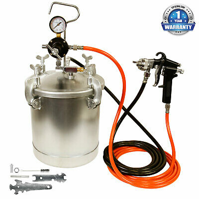New PRESSURE FEED PAINT TANK POT SPRAY GUN SPRAYER SYSTEM