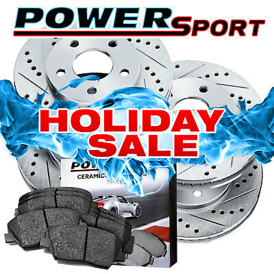 Full Kit Drilled Slotted Brake Rotors and Ceramic Pads 1999-2004 Ford Mustang