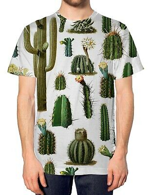 Cactus All Over Fashion T Shirt Tumblr Hipser Style Mens Design Summer Autumn