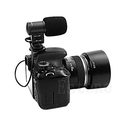 New SG-109 Pro Stereo Video Microphone for Canon Nikon DSLR DV Camera Camcorder