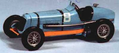 E.R.A. 1 1/2 litre 1934 racing car kit - white metal model to assemble and paint