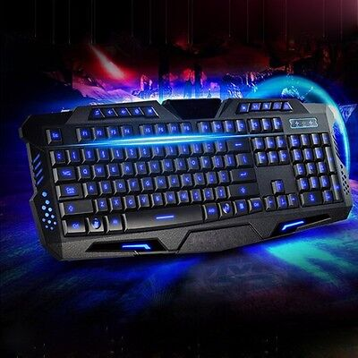 3 Couleurs LED M200 Jeux Clavier USB Wired Gaming Keyboard Pour Gamer Desktop PC