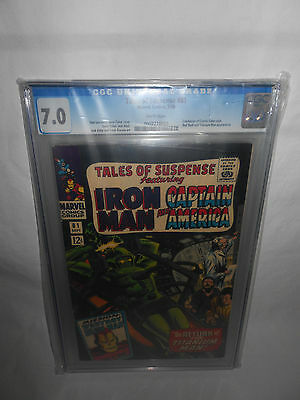 Tales Of Suspense 81 Cgc 7.0 White Pages Tos Captain America Iron Man