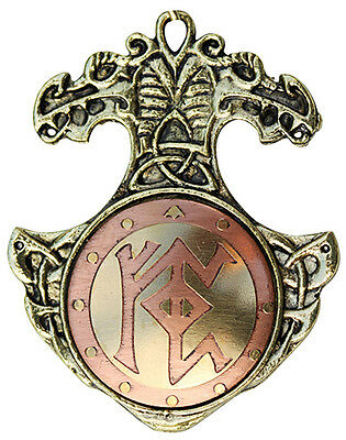 Norse Bindrune Magical Charm Rune Pendant for Greater Financial Security
