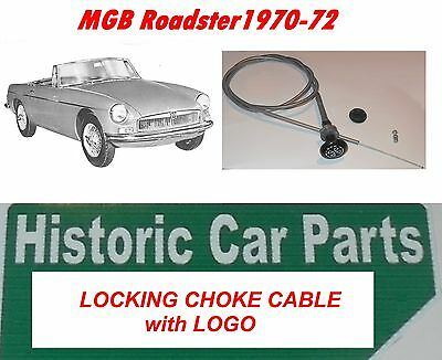 MGB Roadster 1970-72 - LOCKING CHOKE CABLE & LOGO & Grommet Wire Clamp