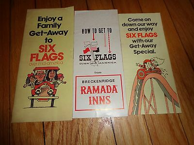 Vintage Six Flags Over Mid-America Brochures