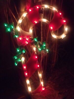 Christmas outdoor lighted candy cane w holly berry sign window christmas outdoor lighted candy cane w holly berry sign window light decoration workwithnaturefo