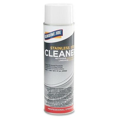 Genuine Joe Stainless Steel Cleaner & Polish Aerosol 15 fl oz (0.5 quart) Banana