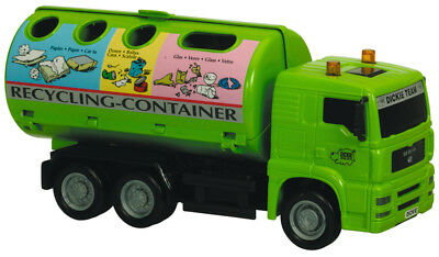 DICKIE 203744001 - CITY TEAM - LKW MIT GLASRECYCLINGCONTAINER (ca. 19cm) - NEU