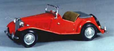 MG TD midget 1950 sports car kit - white metal model to assemble and paint