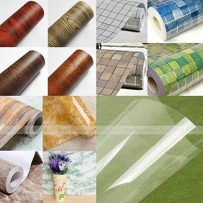 24 Kinds Self Adhesive Contact Paper Shelf Drawer Liner Cupboard Closet Cover