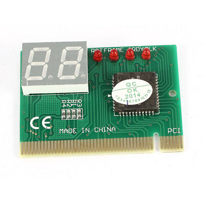 Motherboard 2Digit PCI Diagnostic Test Debug Analyzer POST Card Green for PC