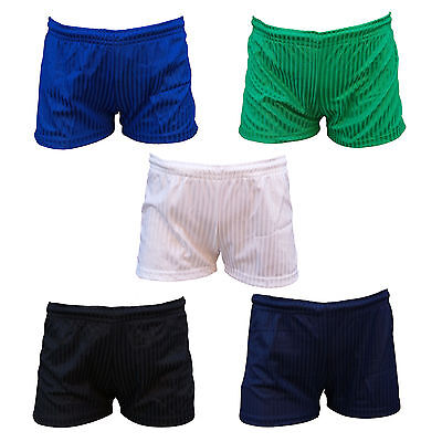 PROC Short Football Shorts Shadow Stripe Polyester Tie Cord Elasticated Waist